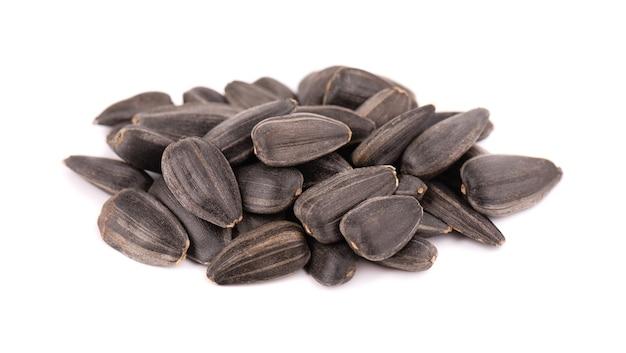 절연 해바라기 씨앗입니다. 튀긴 해바라기 씨앗 더미입니다.