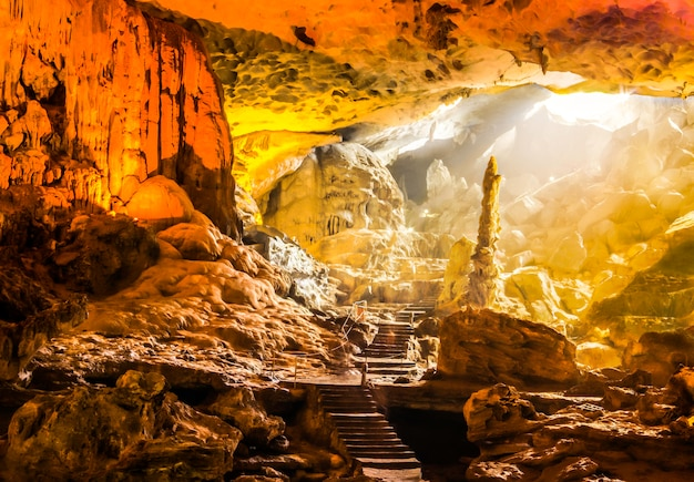 Sung sot cave or surprise grotto, ha long bay