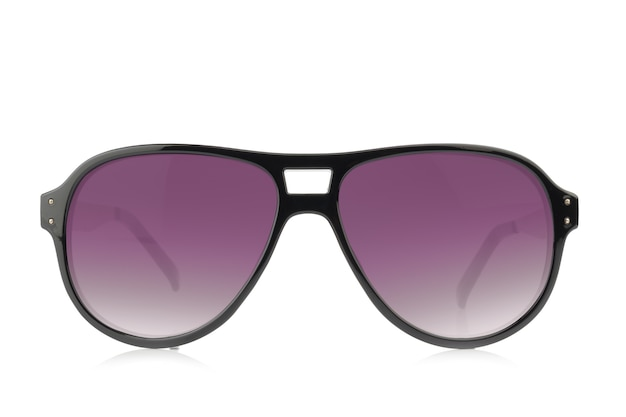 Sunglasses. color purple isolated on white background