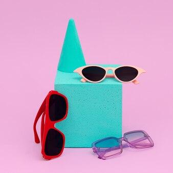 Sunglasses mix. minimal fashion concept