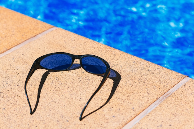 Sunglasses in the pool