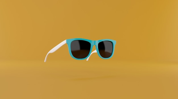 Sunglasses with copy space.