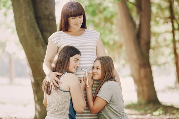 Sunlight expecting natural sisters love