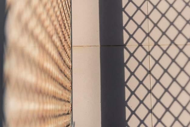 Sunlight and shadow steel grating background