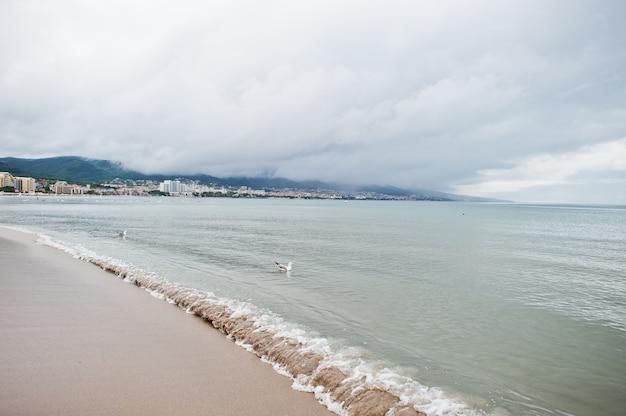 ブルガリアの黒海のサニービーチ。夏休み旅行休暇。