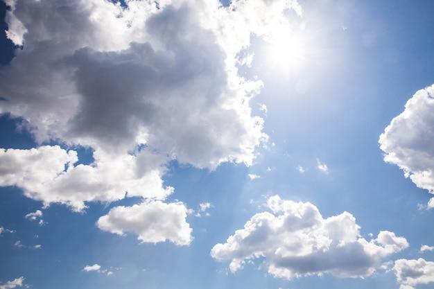 맑은 하늘. 자연 조성.