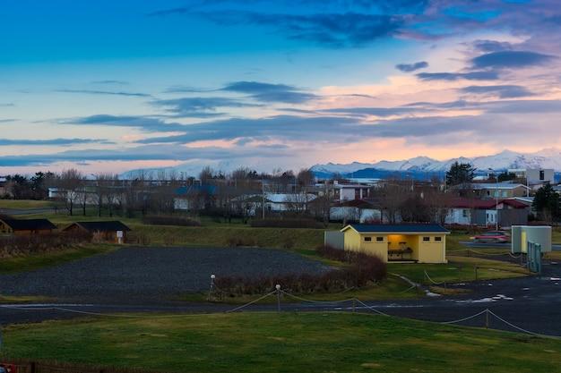 아이슬란드 호픈의 일출