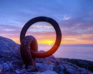 日の出の背景