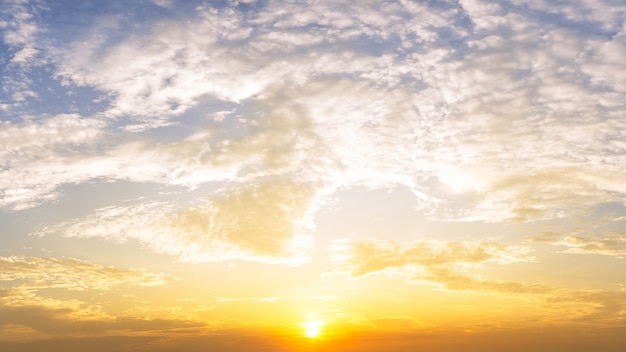 Sunrise and cloud sky nature background