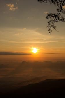 Sunrise at phukradung national park, thailand