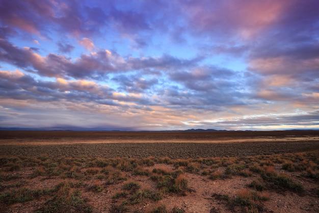 Sunrise at a sage grouse lek habitat in utah