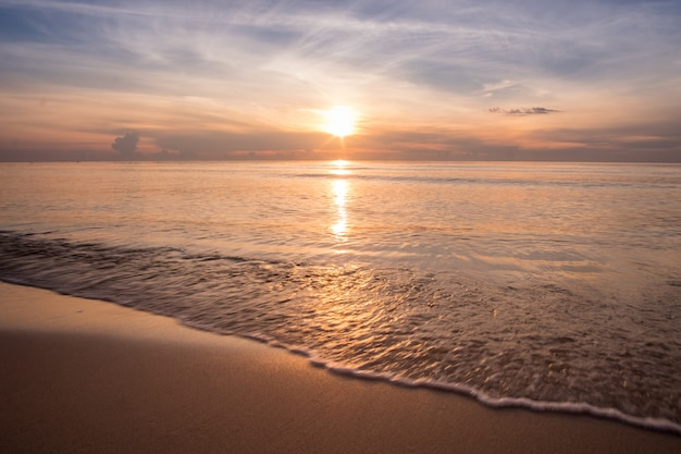 Sunrise at the sea beaach