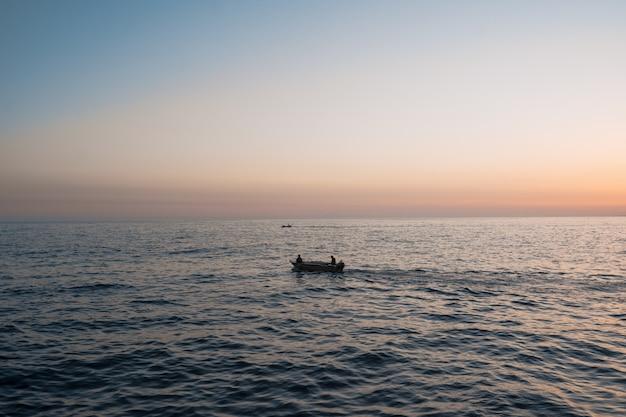 Sunrise over the sea and beautiful seascape