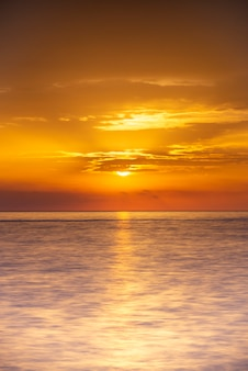 Sunrise on the sea horizon