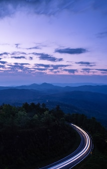 Sunrise in view point of doi inthanon national park, at chiang mai province, northern of thailand.