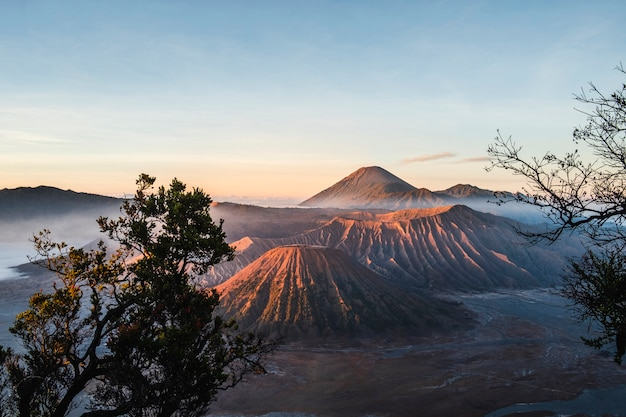 Sunrise at volcano mt.bromo (gunung bromo) east java, indonesia