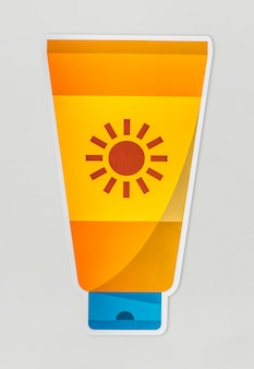 A sunscreen isolated on background