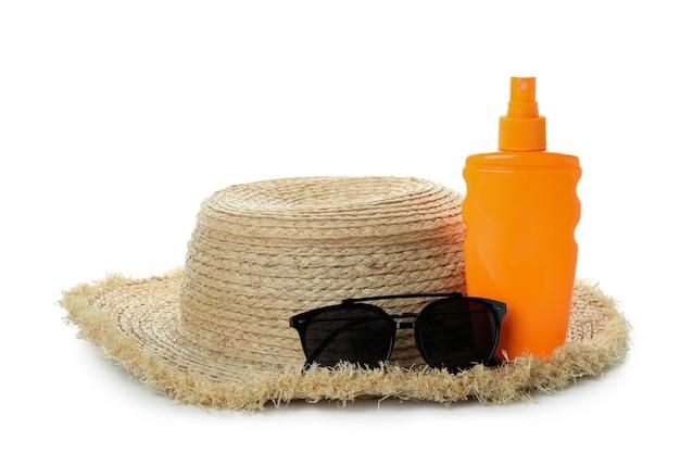 자외선 차단제, 선글라스, 밀짚 모자