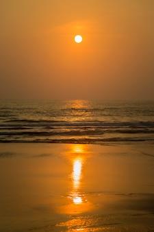 Sunset in agonda, goa, india