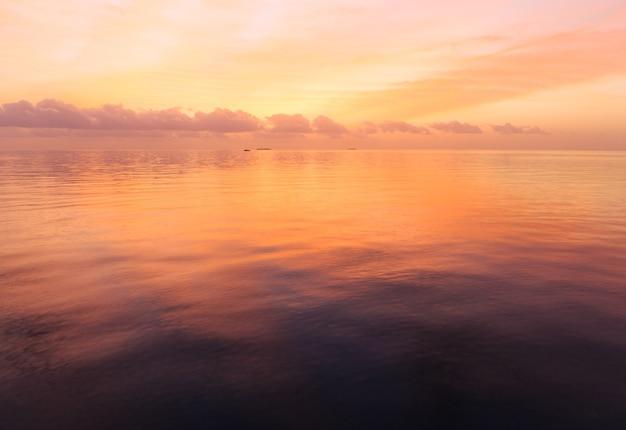 Закат на мальдивском пляже
