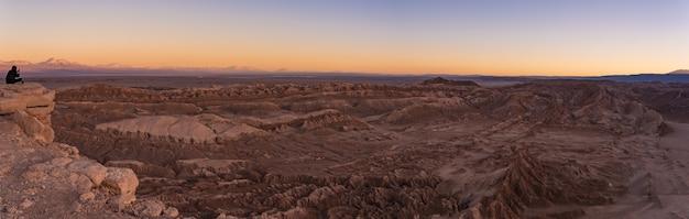 Закат в лунной долине в чили