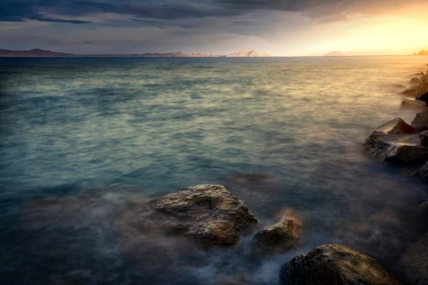 Cビーチの夕日