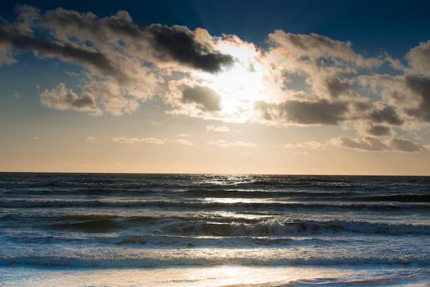 Sunset on the baltic sea. seascape