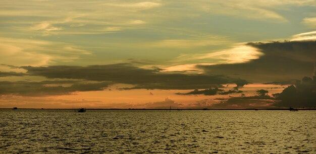 Sunset at beach.