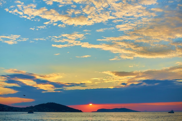Sunset in the bosphorus
