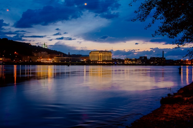 Sunset in the capital of ukraine-kiev