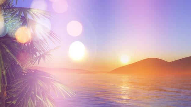 Sunset in caribe