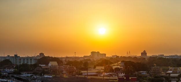 Sunset at cityscape