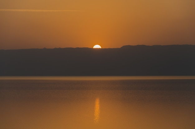 Sunset on the dead sea from the jordanian side.