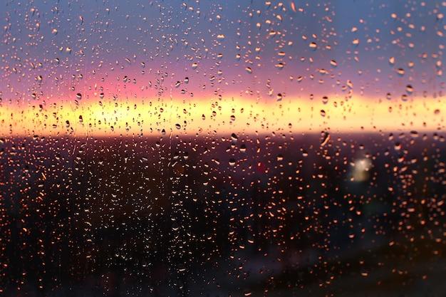 Sunset drops.