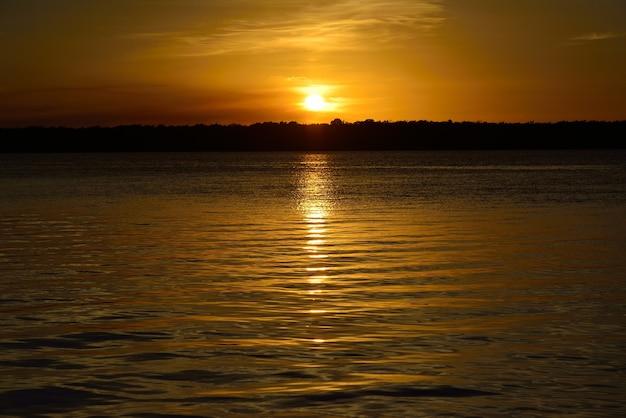 Sunset at the famous jacare beach, cabedelo, near joao pessoa, paraiba, brazil on december 03, 2012.