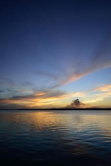 Sunset at the famous jacare beach cabedelo near joao pessoa paraiba brazil on december 03 2012