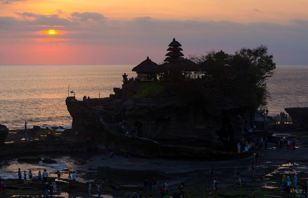 Sunset over hindu temple