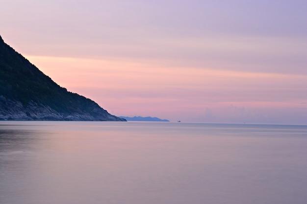 Sunset on idyllic tropical beach
