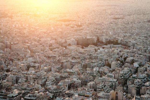 Закат в афинах.