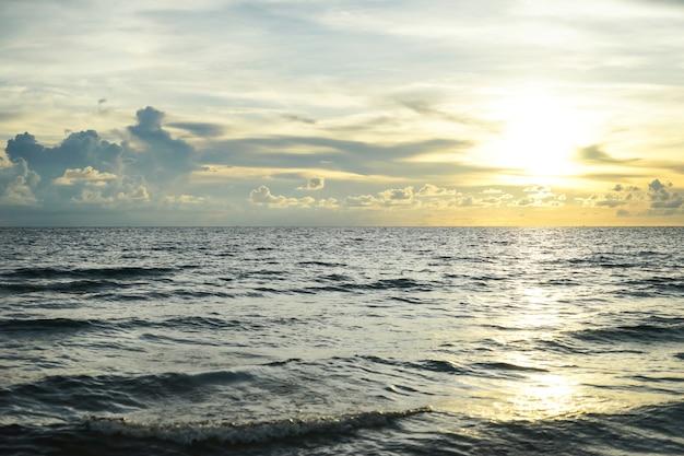 Sunset at ko chang, trat province, thailand.