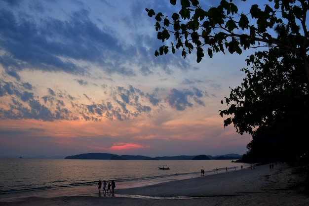 Sunset in krabi thailand