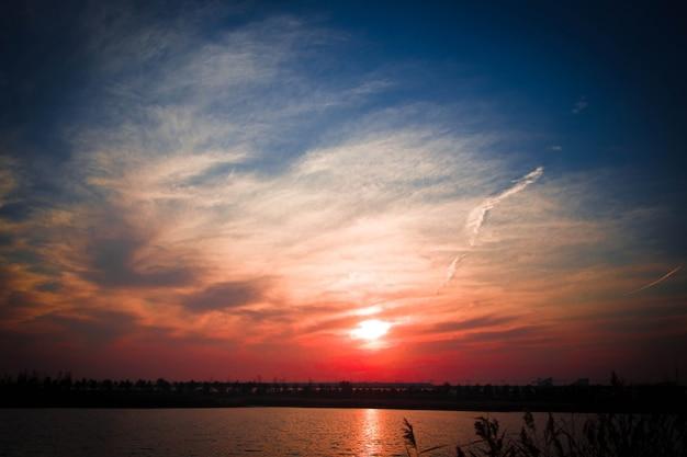 Paesaggio di tramonto