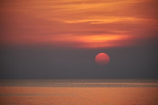 Sunset light beautiful evening. subject is blurred
