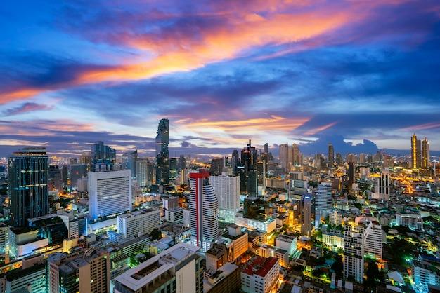 Sunset over a modern city