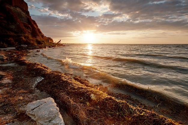 Sunset near akkerman fortress beach