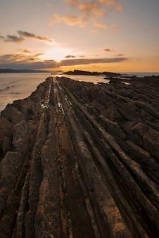 スマイアのフリッシュに沈む夕日