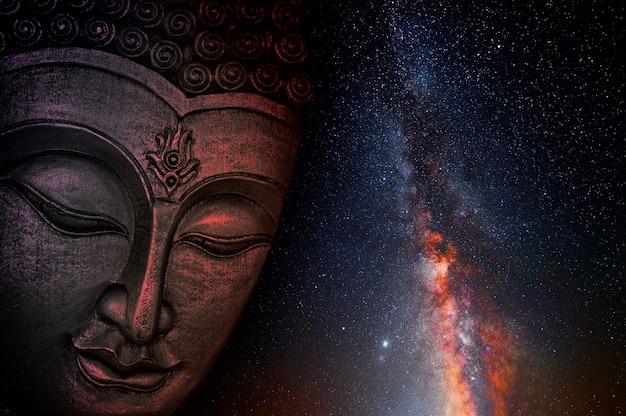 アジアの仏教寺院に沈む夕日