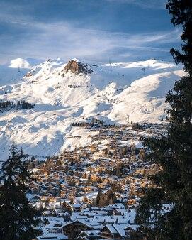 Закат над вербье швейцария