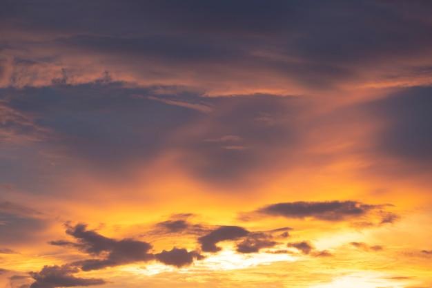 Sunset overcast sky.