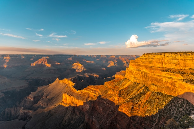 Sunset at the powell point of grand canyon. arizona